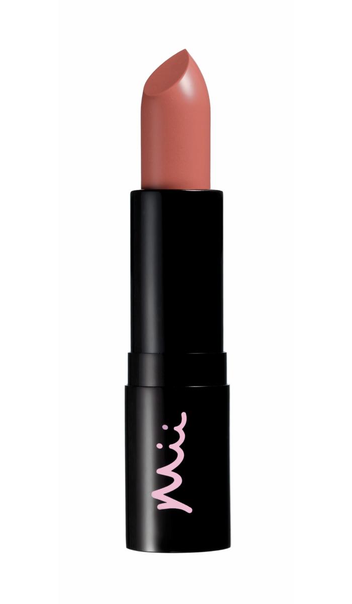 Mii Cosmetics press, Lauren Ezekiel uses her favourite nude lipstick, Moisturising Lip Lover in Hush, to create a Modern Bardot look with effortless chic.