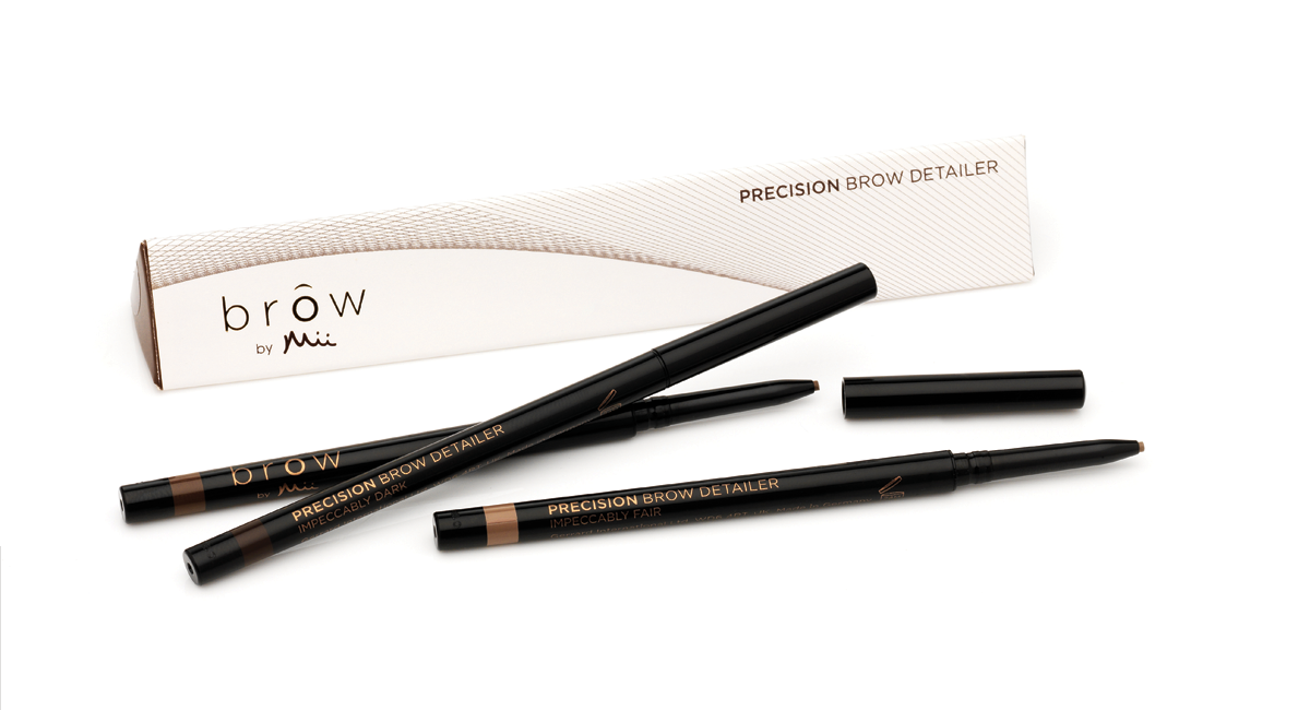 "Brow by Mii, Precision Brow Detailer – ""teeny tiny little brow shaper that I'm loving at the moment"" – Featured in ""My Holiday Makeup Bag"""