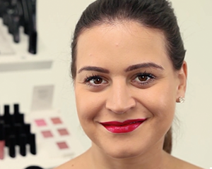 Mii Cosmetics tutorial showing you how to create the perfect red lip with their products