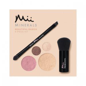 Mii Mineral Beautiful Basics Foundation, Eyeshadow, Blush & Brush Set