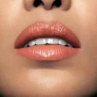 Model wearing Mii Moisturising Lip Lover Breathe Lipstick