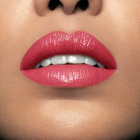 Model wearing Mii Moisturising Lip Lover Exclaim Lipstick