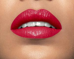 Model wearing Mii Moisturising Lip Lover Fearless Lipstick