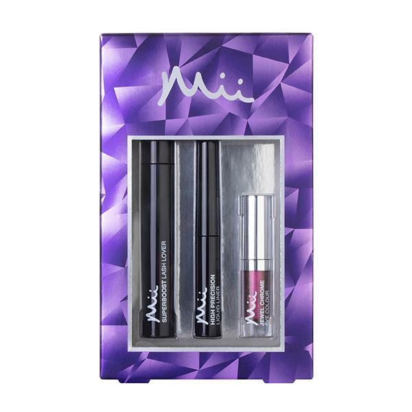 Mii hidden depths mascara liner & eyeshadow gift set hidden treasure (purple/bronze)