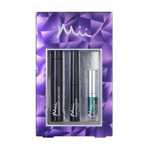 Mii hidden depths mascara liner & eyeshadow gift set peacock queen (blue/green)