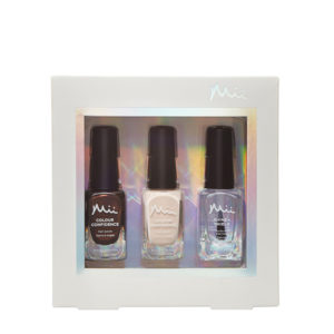Mii luxe to last nail polish gift set chocolate roulade and creme brulee