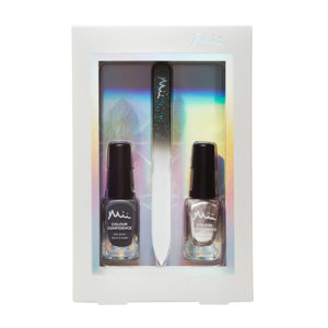 Mii Perfectly Polished Nail Polished Gift Set Dark and Mysterious and frosted Rose
