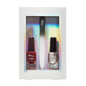 Mii Perfectly Polished Nail Polish Gift Set Lingonberry and frosted rose